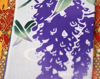 Japanese Fabric Tapestry 'TENUGUI FUJIKAGAMI' Wisteria 90 x 36cm Cotton 100% Hand Towel Washcloth