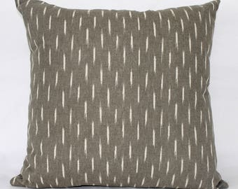 "18 x 18"" Gray Mid Century Modern Pillow Cover - Designer Fabric- Accent Pillow - Designer Throw Pillow"
