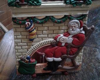 Vintage Metal/iron Christmas votive candle holder ornament/decoration