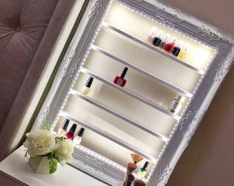 Celeste Nail Polish Rack with LED lights and remote swtich - Nail Polish Organizer