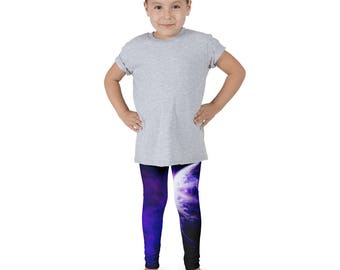 Purple Planet Galaxy Kid's Leggings