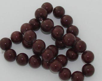 5 diameter Brown jade 12mm beads