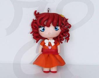 Japanese doll Necklace (Chibi): BIA