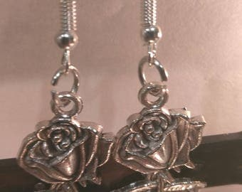 Rose Silver Earrings