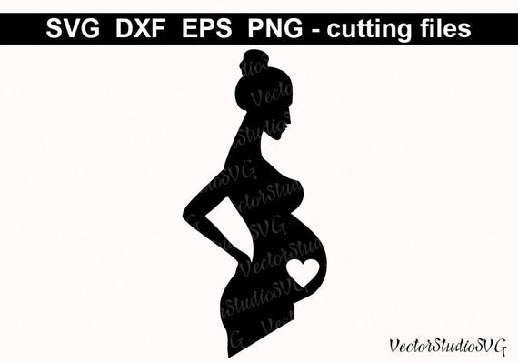 Pregnancy Svg Mommy Svg Baby Svg Pregnant Svg Mommy To Be: Silhouette Pregnant Woman SVG Cut File Pregnancy Baby