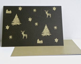 Christmas card, Winter map