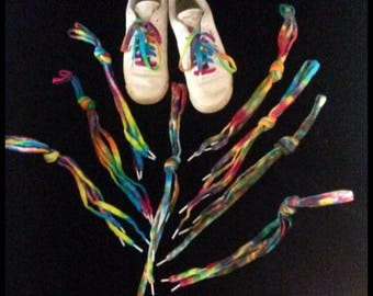 Unique Hand Tie-Dyed Shoe Laces