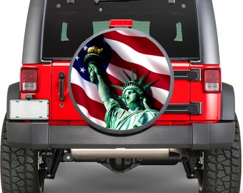 The Statue of Liberty Sticker Full Color Spare Tire Cover Decal, Wheel Cover gc2026
