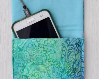 2 turquoise cell phone Pocket