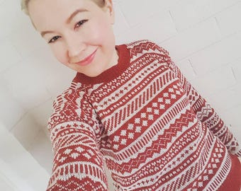 Women's fair isle sweater