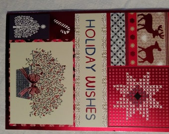 Holiday Season Greetings Cards-Four with envelopes