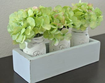 Wooden Centerpiece Planter Box