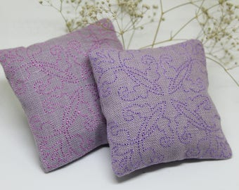Lavender Pillows - Lavender Sachet - Lavender Bag - Set of 3 - Natural Lavender  - Wedding Favor - Organic Home Decor - Wardrobe Scent -