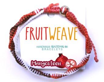 MANGOSTEEN DNA BRACELET, Guatemalan Bracelets, Handmade bracelets, colorful bracelets, fruit based, fruit weave, friendship bracelets.