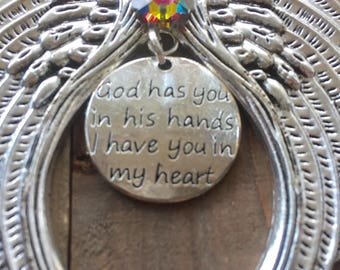 God has you in His hands, Memorial Ornaments, Veterans Day, Loss of Loved One, Loss of Friend ,Loss of Mom Dad Brother Sister Child Pet