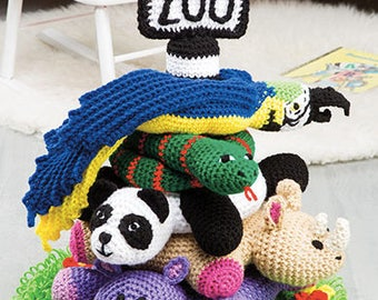 Cute Crochet At the Zoo Ring Toss, Gifts, Toys, Soft Toys, Safe Toys, Zoo