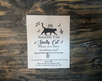 Smelly cat wish bracelet.Cat wish bracelet .cat charm bracelet .wish bracelet.friends smelly cat what are they feeding you.Phoebe smelly cat