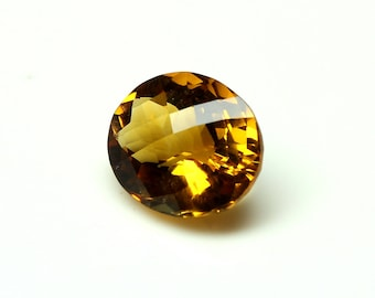 AAA Amazing Natural Citrine Faceted oval Checker Cut With Nice cutting Size= 9.8x12x6.9 MM Code=CT11