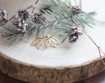 Gold Leaf Earrings (Peak-A-Boo)
