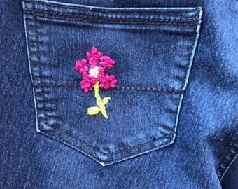 Almost Famous ~ Hand Embroidered Jeans that you will receive more compliments on than any jeans EVER!