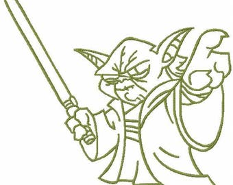 Yoda embroidery design 8