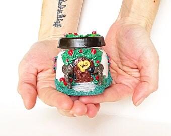 Rose Heart Fairy House Jar