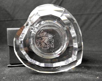 Oleg Cassini Crystal Heart Votive Candle Holder in Original Box