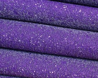 Perfectly Purple Premium Quality Chunky Glitter Fabric Sheet