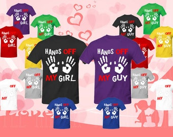 Hands off my Girl, Hands off my Guy, Couple matching T-SHIRT