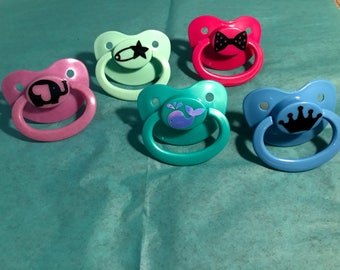 DECAL Adult Pacifier, DDLG Pacifier, ABDL Pacifier, Ageplay, Adult Baby