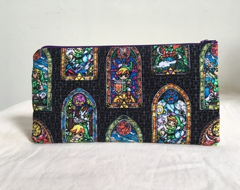Notions Bag, Notions Pouch, Pencil Case, Phone purse, Makeup Bag, Zelda Inspired