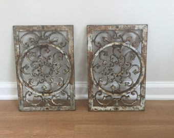 Cast iron decorative wall art