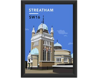 Streatham Common Pumping Station SW16 - Giclée Art Print - South London Poster