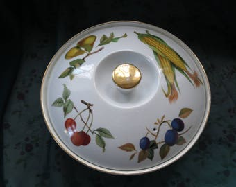 Porcelain Oven To Table Classic Tableware Circular Serving Dish Royal  Worcester Evesham Made In England