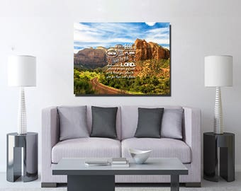 Jeremiah 29:11 #3 NIV 'For I Know the Plans I have for you' Christian Scripture Bible Verse Wall Art Canvas | Religious | Home Decor