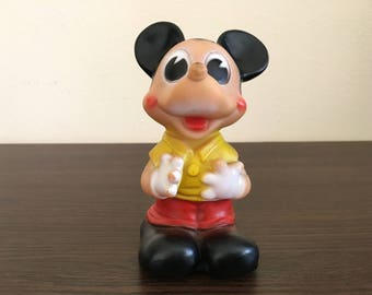 Mickey Mouse Rubber toy - Mickey Mouse - Rubber toy - Plastic doll - Vintage Mickey Mouse Rubber toy - Vintage Rubber Mickey Mouse