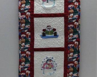 Rectangular #Snowman Quilted Wall Hanging (Wall Art)