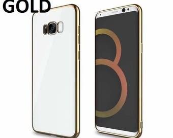 Samsung Galaxy S8 Tpu Gel Jelly Skin Chrome Plated Gel Case Cove