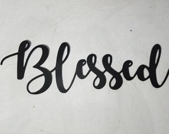 Steel Blessed Sign
