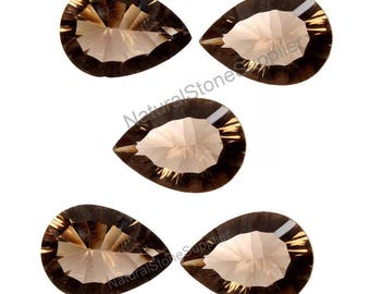 Natural  Smoky Quartz Pear Concave Cut 1 Piece Gemstone Calibrated Size Available 7x10 mm To 15X20 mm Natural Stone Supplier