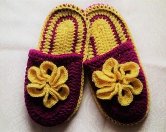Crochet slippers, slippers, handmade, ideal gift, birthday gift, Christmas gift, slippers