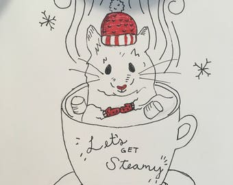 Let's Get Steamy | Pack of 4 Holiday Cards