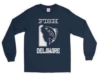 Fish Delaware Fishing Long Sleeve T-shirt | Fishing Apparel