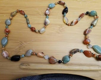 necklace of semi precious stones