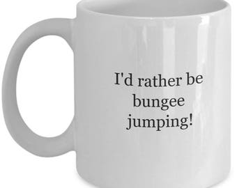 Bungee jumping, bungee jumper, extreme sports, bungeejumping, coffee mugs, statement mugs, jumping mugs, bungee jumper mug, bungee