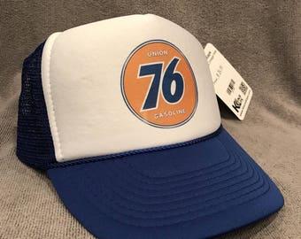 Union 76 Gas Trucker Hat Vintage Style Farmer Semi Truck Mesh Snapback Cap! 2199