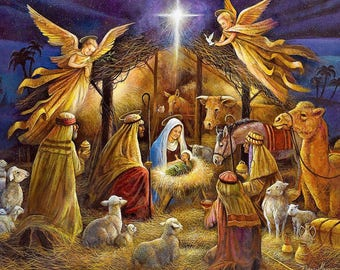 Jesus Nativity Scene / Christian 8 x 10 / 8x10 GLOSSY Photo Picture IMAGE #4