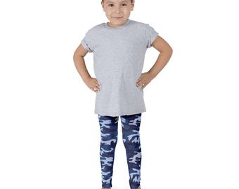 Blue Camo Kid's leggings