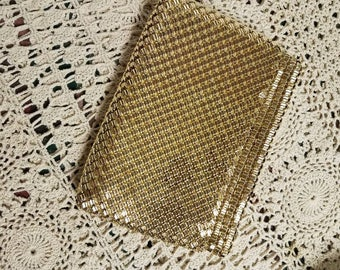Vintage Gold Mesh Whiting and Davis Clutch Purse