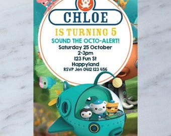 Personalised OCTONAUTS Birthday Party Invitation DIGITAL You Print